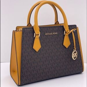 Michael Kors Hope Medium Satchel Marigold